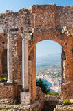 Taormina theater Stock Photos