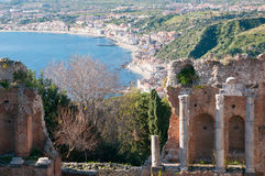 Taormina theater Royalty Free Stock Image