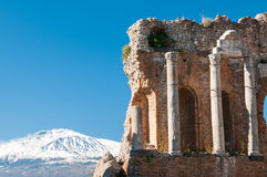 Taormina theater Royalty Free Stock Photos