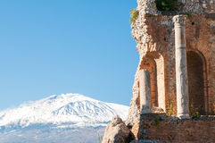 Taormina theater Stock Images