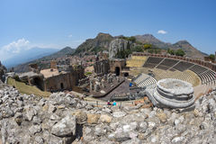 Taormina theatre Stock Photos