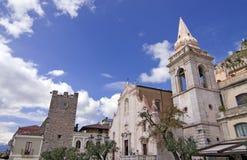 Taormina town center Stock Photos