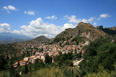Taormina from up Royalty Free Stock Photography