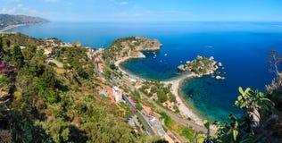 Taormina widok od up, Sicily zdjęcie stock