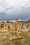 Taos镇墓地 库存图片