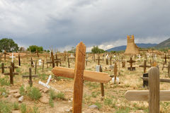 Taos镇墓地 免版税图库摄影