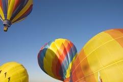 Taos balloon festival. One of the many balloons at the Taos balloon festival being inflated at dawn Stock Photo