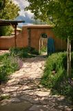 Taos Courtyard Royalty Free Stock Images
