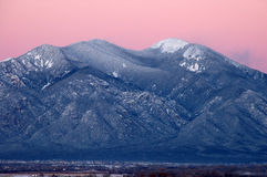 Taos Mountain After Sunset Stock Photos