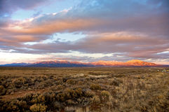 Taos Mountains at Sunset Royalty Free Stock Images