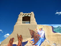 Taos mural. This interesting mural was photographed in downtown Taos, New Mexico Royalty Free Stock Photography