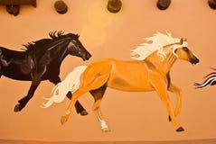 Horse Mural Stock Photo