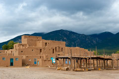 Taos Pueble Foto de Stock Royalty Free
