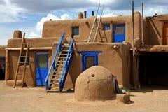 Taos Pueblo Royaltyfri Fotografi
