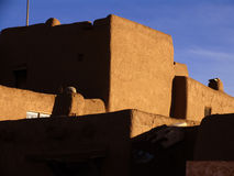 Taos Pueblo. Adobe structures in Taos Pueblo Ancient Ruins Royalty Free Stock Photography