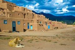 Taos Pueblo Royaltyfri Bild