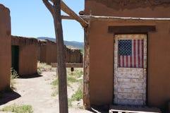 Taos Pueblo Royalty-vrije Stock Afbeeldingen