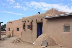 Taos Pueblo Stock Afbeeldingen