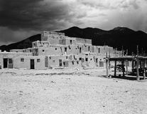 Taos Pueblo Building Stock Photo