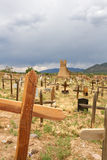 Taos Pueblo Cemetery Royalty Free Stock Photography