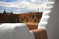 Taos Pueblo church Stock Image