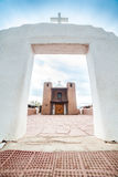 Taos-Pueblo - eine traditionelle Art gebürtige Inderarchitektur Stockbilder