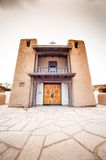Taos-Pueblo - eine traditionelle Art gebürtige Inderarchitektur Stockbild