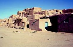Taos-Pueblo-Häuser lizenzfreie stockfotos