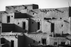 Taos Pueblo Homes. A closer look at the Taos Pueblo Homes Stock Photography