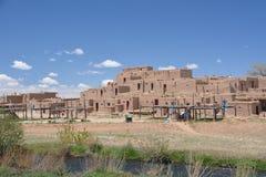 Taos Pueblo i nytt - Mexiko Royaltyfria Foton