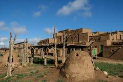 Taos-Pueblo im New Mexiko Stockbild