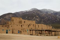 Taos Pueblo, New Mexico. Very old adobe building in Taos Pueblo Royalty Free Stock Photography