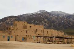 Taos-Pueblo, New Mexiko lizenzfreie stockfotografie