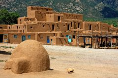Taos Pueblo Stock Photography