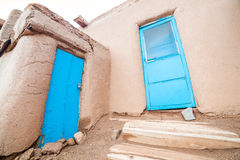 Taos-Pueblo - traditionelle Art der gebürtigen Inderarchitektur Lizenzfreie Stockfotos