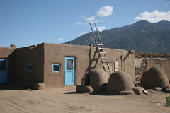 Taos Pueblo village Stock Images