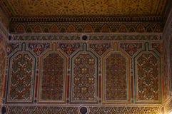 Taourirt Kasbah内部。瓦尔扎扎特,摩洛哥。 免版税库存图片