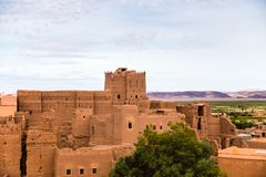 Taourirt-kasbah in Ouarzazate, Marokko Lizenzfreie Stockbilder