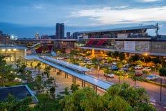 Taoyuan high speed rail station. Night view of taoyuan high speed rail station in taiwan royalty free stock photo