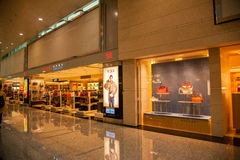 Taoyuan International Airport Terminal duty-free shopping malls Royalty Free Stock Photo