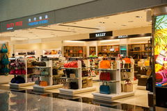 Taoyuan International Airport Terminal duty-free shopping malls Stock Photo