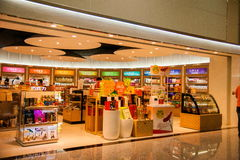 Taoyuan International Airport Terminal duty-free shopping malls Royalty Free Stock Images