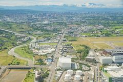 Aerial view of the Interior view of the Taiwan Taoyuan Internati. Taoyuan, JUN 6: Aerial view of the Interior view of the Taiwan Taoyuan International Airport on Royalty Free Stock Images