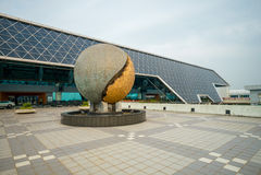 Taoyuan lotnisko w Taoyuan, Taiwan Obraz Stock
