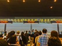 Taoyuan, Taïwan - 20 novembre 2015 : Le touriste est arrivé à Taïpeh T Images stock