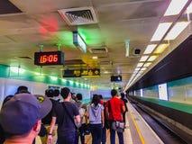 Taoyuan Taiwan - November 20, 2015: Sikt på plattformen av Tai Fotografering för Bildbyråer