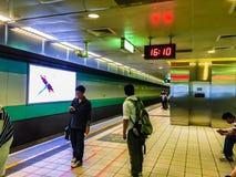 Taoyuan Taiwan - November 20, 2015: Sikt på plattformen av Tai Royaltyfri Fotografi