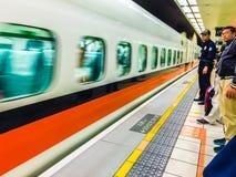 Taoyuan Taiwan - November 20, 2015: Sikt på plattformen av Tai Royaltyfria Foton