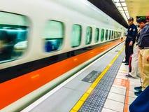 Taoyuan Taiwan - November 20, 2015: Sikt på plattformen av Tai Royaltyfri Bild