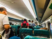 Taoyuan Taiwan - November 20, 2015: Sikt på plattformen av Tai Arkivbilder